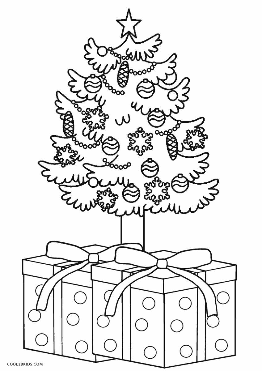 Fullsize Of Christmas Tree Coloring Page