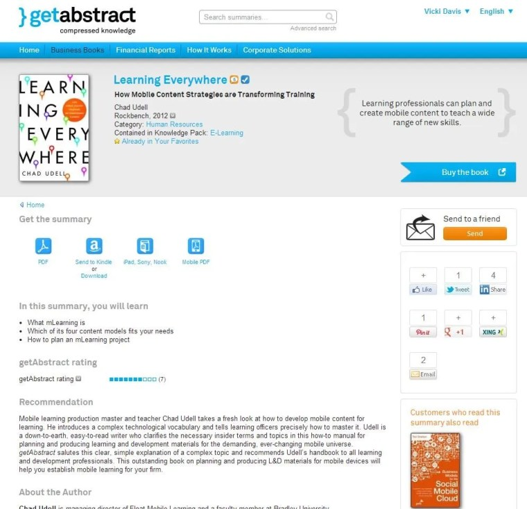 Get Abstract is a great book review service