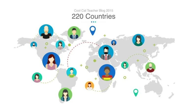 The Cool Cat Teacher Blog reached 220 Countries this Year.