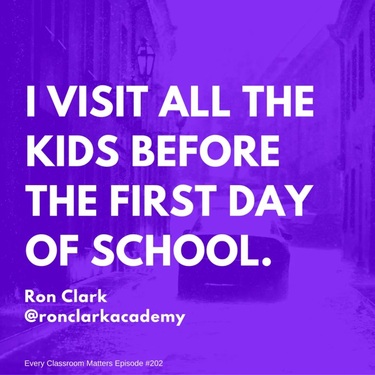 Ron Clark quote about hard to reach kids