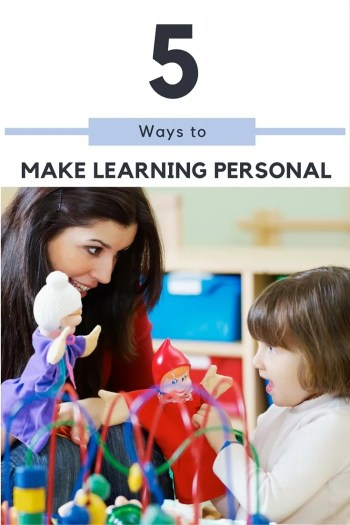 5 Ways to Make Learning Personal