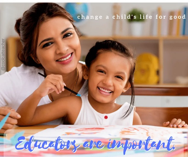 Educators are important. Back to School advice Cool cat Teacher