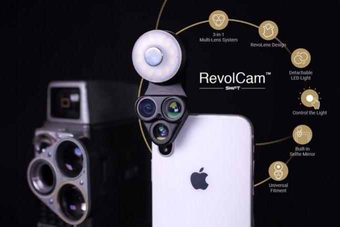 revolcam-smartphone-gadget-linsen-aufsatz-lens clip-led-3
