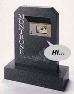 The talking tombstone