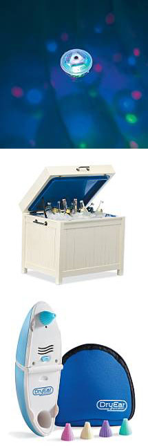 Underwater Laser Light Show - All-weather Hardwood Cooler - DryEar