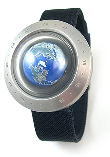 Rotating Earth Watch