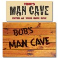 Personalized Man Cave Sign and Doormat