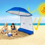 ezShade Beach Umbrella gives you extra shade at the beach
