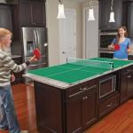 Kitchen Table Tennis makes the best use of your home's limited space