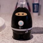 Zapi Toothbrush Sanitizer cleans quietly like a ninja