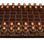 DIY Nixie Tube Chess Set illuminates the mind as you play