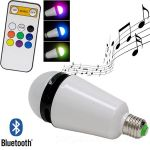Bluetooth Speaker LED Bulb brings forth light and sound