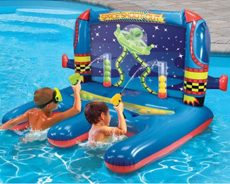 Inflatable Water Shooting Float keeps the kids happy