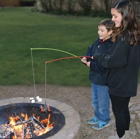 Campfire roasting rod lets you fish for food coolest for Cool fishing gadgets