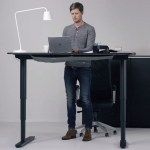 The Bekant desk from IKEA will let you choose whether you sit or stand