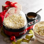 The Waring Popcorn Maker with Melting Pot creates luxurious snacks