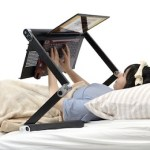 The Super Gorone Desk is a desk that will make lounging with your laptop even easier