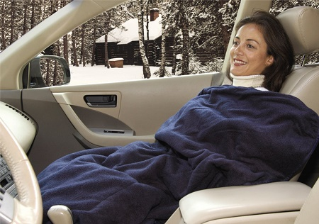 Heated Fleece Travel Blanket