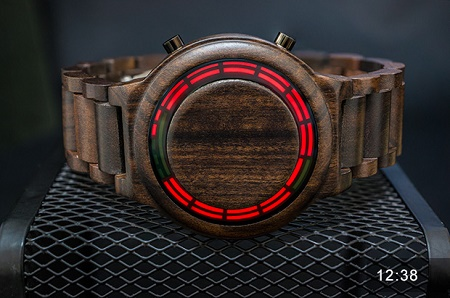 Kisai RPM Wood LED Watch