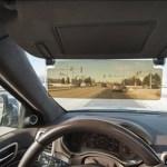 Driver's See Through Sun Visor blocks glare