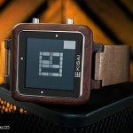 The Kisai Logo Wood LCD Watch – challenge your perception of time