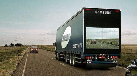 Samsung hopes to improve road safety with 'transparent' truck