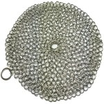 Tough messes don't stand a chance against a chain mail scrubber