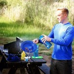 The Lunatec Aquabot turns a water bottle into a pressurized water gun