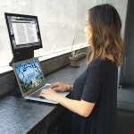 The VEYEM Dual Monitor Laptop stand makes working on the go easier