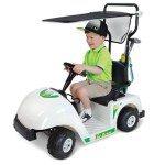 Junior Golfer's Electric Golf Cart brings him places