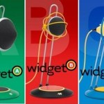 These Widget Desktop USB Microphones will give your office a retro-futuristic feel