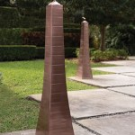 Outdoor Obelisk Torches light up your home with an ancient look