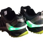 These Rumble Shoe Lights make sure you aren't invisible at night