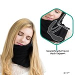 The Trtl Soft Neck Support Travel Pillow is a blanket AND pillow