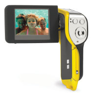 This Underwater camcorder can record video to a depth of 10 feet.