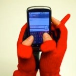 Valentine's Red Cashmere Gloves For Touchscreen Addicts