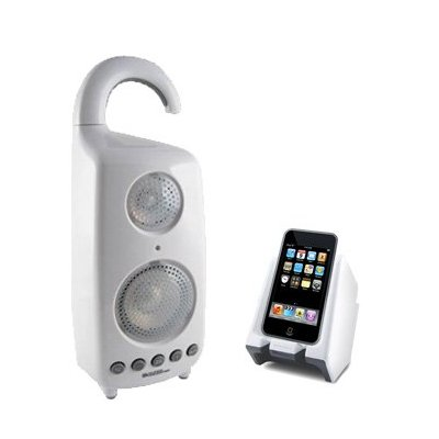 Waterproof-Shower-Speaker-With-iPod-Dock-Transmitter