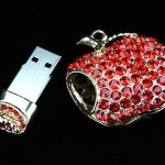 The Jewel Apple Necklace USB Drive