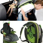 BoostApak lets a child carry his or her own booster seat