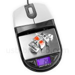 Brando USB optical mouse serves as digital scale