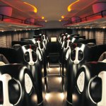 Japanese bus uses personal luxury cocoons