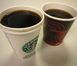 Starbucks vs. McDonalds