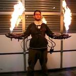 DIY makes cool flamethrower gloves