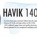 NZXT Havik 140 CPU cooler for performance enthusiasts
