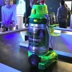 The Heineken Robot serves you beer