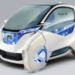 Honda's Micro Commuter concept car can be controlled with a smartphone
