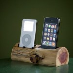 Wooden Dual iPhone/iPod Docking Station