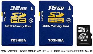 New blazing SDHC cards from Toshiba