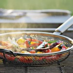 Mesh Frying Pan great for Grilling veggies