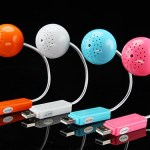 Mini Ball USB Speaker has built-in sound card